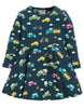 Frugi Sofia Skater Kleid - Space Blue Rainbow Roads