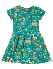Frugi Spring Skater Dress -  Jewel India