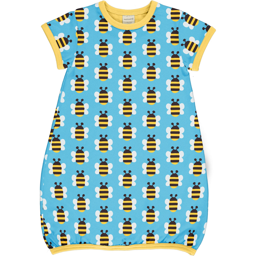 maxomorra - Kleid Balloon kurzarm HUMBLE BUMBLEBEE