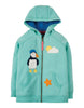 Frugi Heather Hoody Kapuzen-Sweatshirt mit Papageientaucher-Applikation St Agnes
