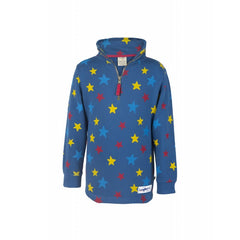 Sweat-Pullover HALF ZIP STAR in blau