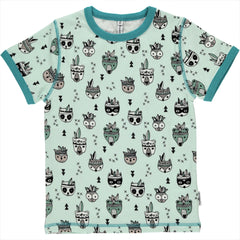 Maxomorra Kurzarm-Shirt Animal Mix