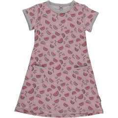 Kleid Kurzarm Watermelon Love von Maxomorra
