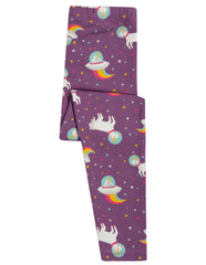 Frugi Libby Leggings Amethyst Unicorn - Indie Exclusive