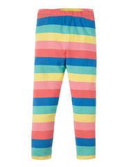 Frugi Libby Striped Leggings Bright Rainbow Stripe