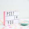 Lightbox A4 pink von a little lovely company