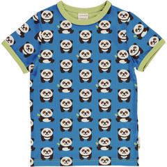 maxomorra Shirt kurzarm -  PLAYFUL PANDA
