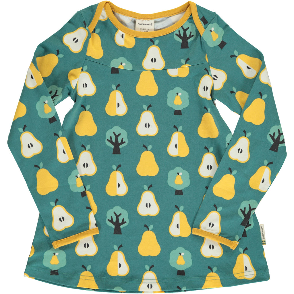 Maxomorra Top Flare langarm GOLDEN PEAR