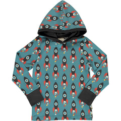 maxomorra Shirt langarm Hood MOON ROCKET