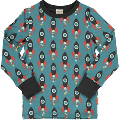 maxomorra Shirt langarm MOON ROCKET