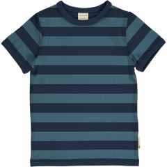 maxomorra Shirt SS Stripe STRIPE - EXPLORE