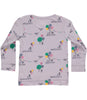 Langarmshirt ANEMONE DREAM in flieder mit Print