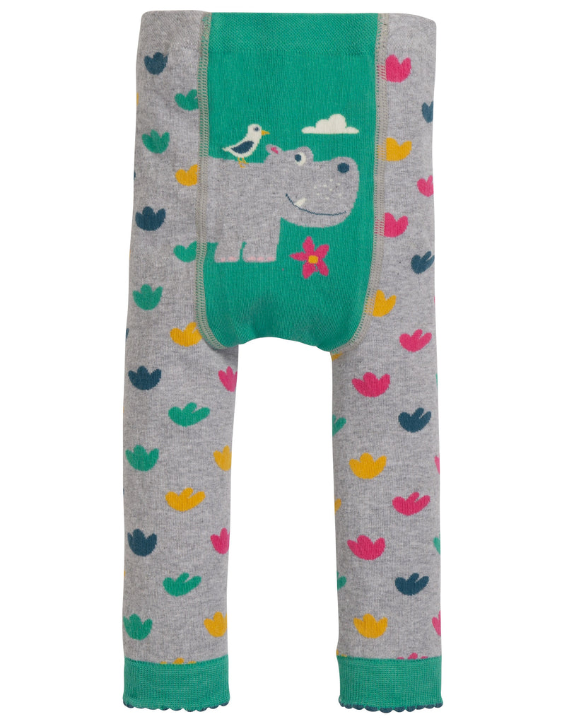 Frugi Little Knitted Leggings Hippo