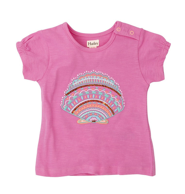 T-Shirt Seashells in pink bei Heldenkind