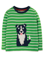 Frugi Langarmshirt - Discovery Applique Top Dog