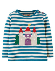 Frugi - Ira Interactive Applique Top Castle