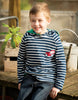 Frugi Reversible Hooded Top Traktor / striped