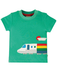 Frugi Shirt Rainbow Train - Cooper Top