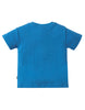 Frugi Kurzarm-Shirt mit Pferd-Applikation in blau