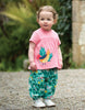 Frugi Eva Applique Top Guava Pink