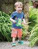 Frugi Kurzarm-Shirt Little Creature mit Frosch-Applikation