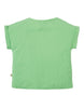 Frugi Bella Boxy T-shirt Soft Green Spot