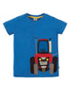 Frugi Kurzarm-Shirt James Applique mit Traktor-Applikation