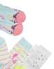 3er-Set Socken NOVELTY Meerjungfrau