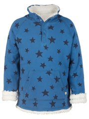 Wende-Pullover Snuggle Fleece STAR in blau