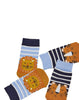 Socken 2er-Pack LÖWE & TIGER gestreift