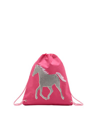 Joules Kinder-Turnbeutel Pferd in pink
