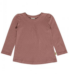 pointelle langarmshirt in dark rose bei heldenkind