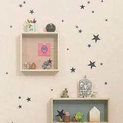 ferm Living Wandsticker Mini Stars Black