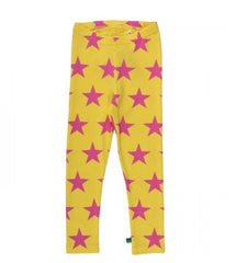 leggings star in gelb von green cotton bei heldenkind