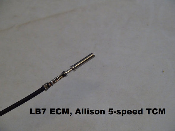 Pre-crimped Allison TCM pins with wire