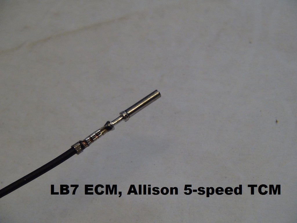 BT selWorks - Pre-crimped Duramax ECM pin with wire on lb7 engine diagram, lb7 fuel system diagram, lb7 glow plug diagram,