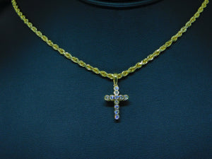 Bezel Set Diamond Cross