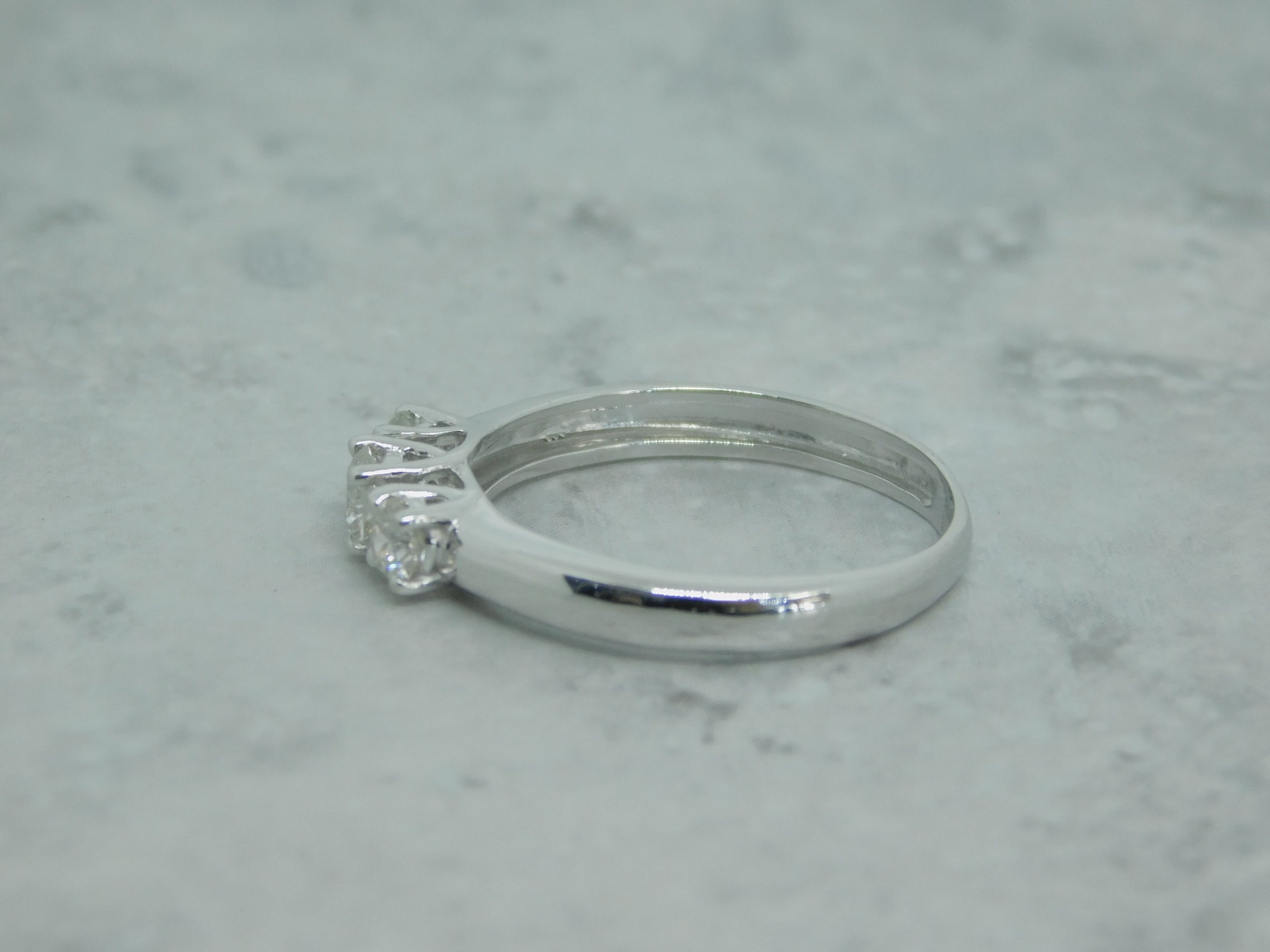 Ladies 3 Stone White Gold Diamond Engagement Ring