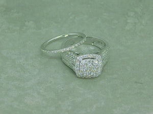 Ladies Diamond Rings Set