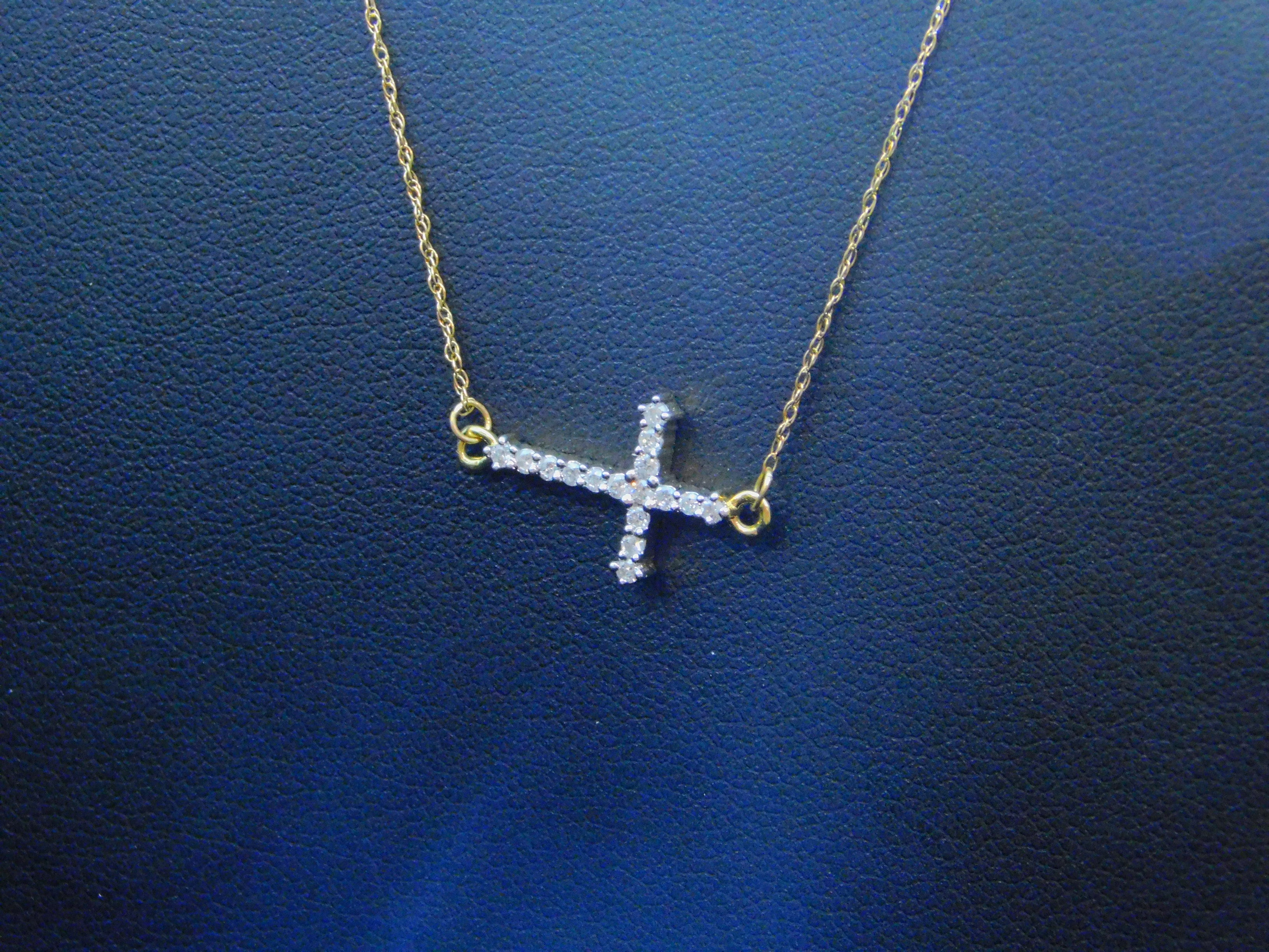 Ladies Diamond Cross