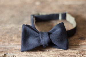 Noodles - Bow Ties - Wool  - Midnight blue