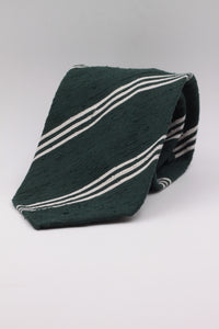 Green Bottle and white stripe tie
