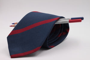 Navy Blue and Red  stripe tie