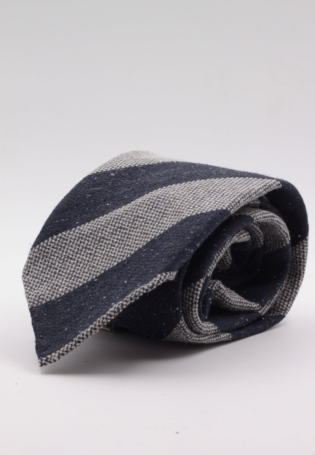 Grey and blue stripe tie