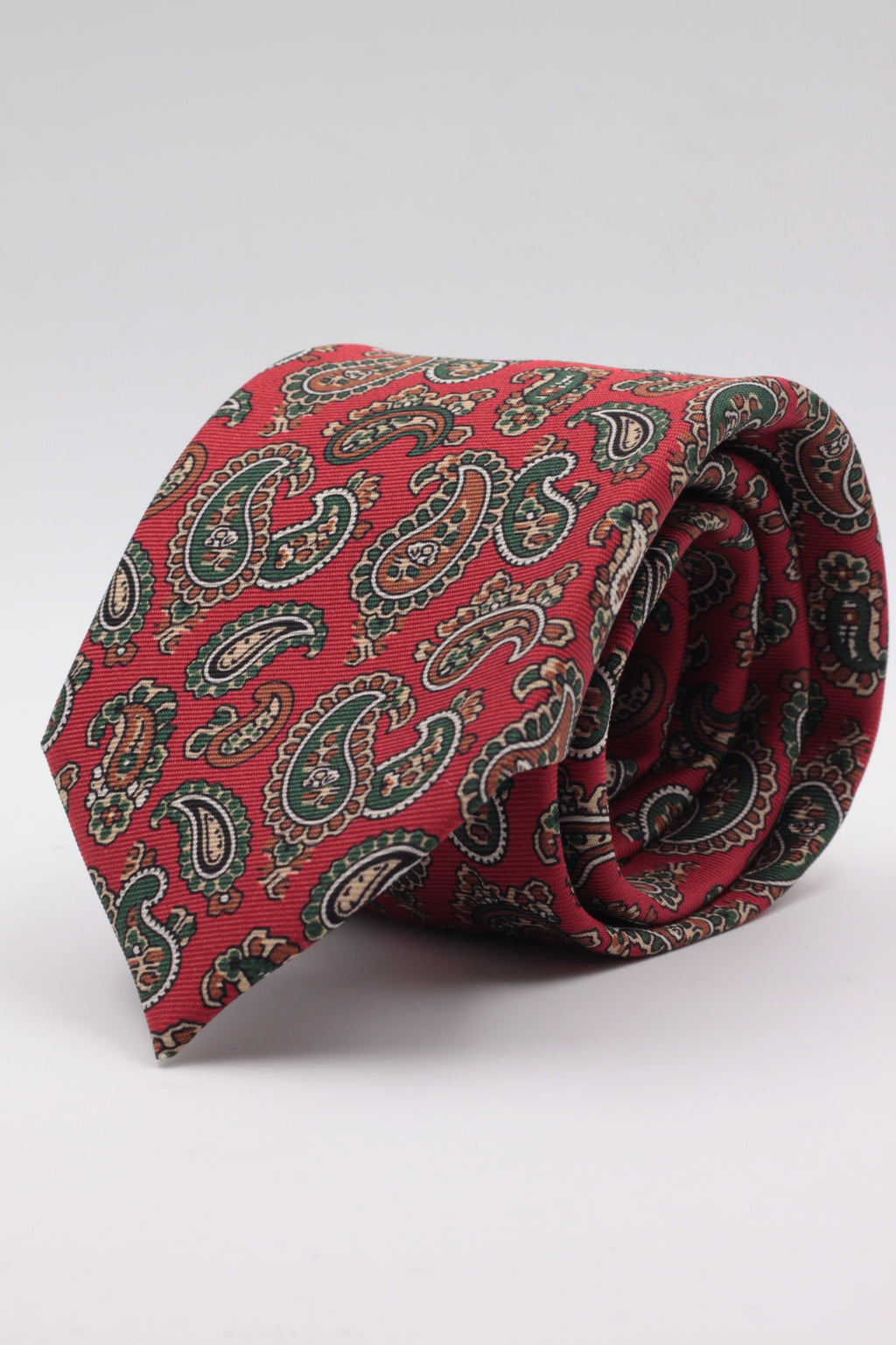 Red, green paisley tie