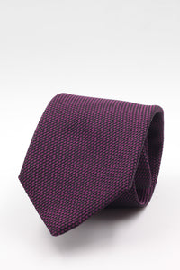 100% Silk Grenadine garza fina  Tipped Hand rolled blades Purple and black  tie Handmade in Rome, Italy 8 cm x 150 cm
