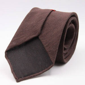 Cruciani & Bella 60% Linen, 40% Silk  Italian fabric Unlined Tobacco unlined plain tie Handmade in Italy 8 cm x 150 cm