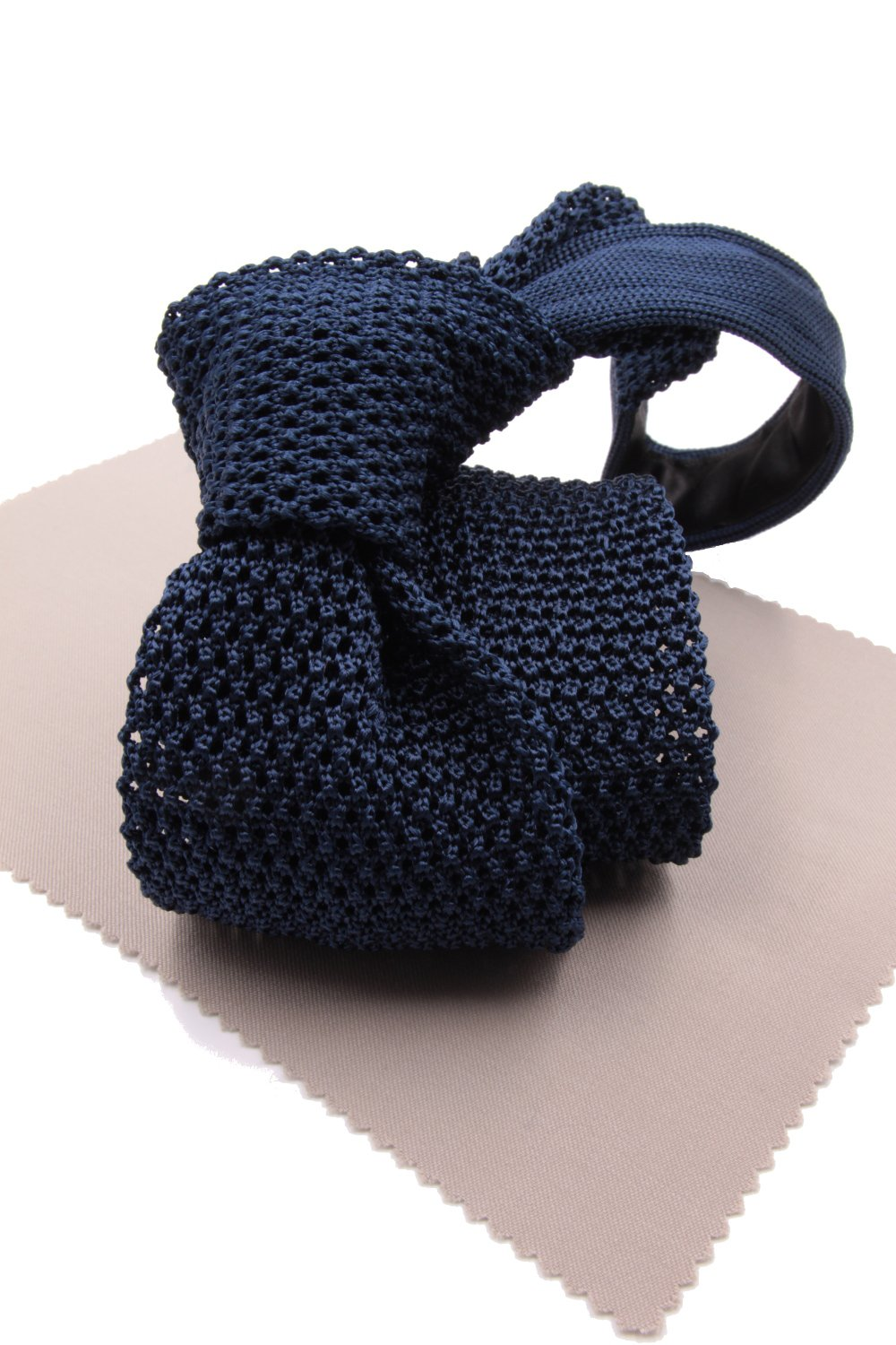 Royal blue knitted tie
