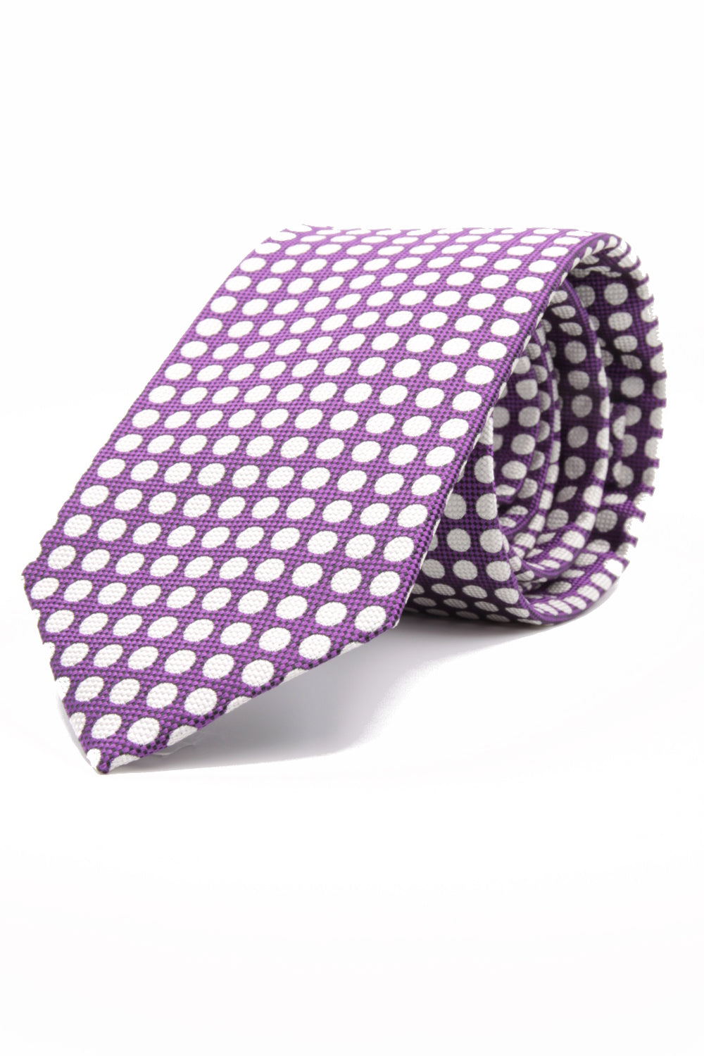 drake's Churchill's spot purple and white tie