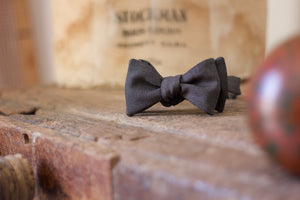 Noodles - Bow Ties - Wool  - Chracoal bird's eye